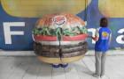 Fantasias ou Roupas Infláveis - Burger King - Hambúrguer  - Foto 1