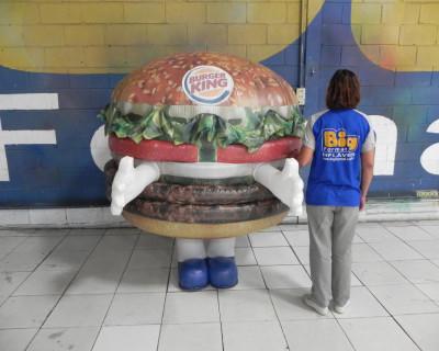 Fantasias ou Roupas Infláveis - Burger King - Hambúrguer
