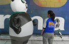 Fantasias ou Roupas Infláveis - CREAS - Panda -  2,20m - Foto 2