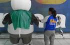 Fantasias ou Roupas Infláveis - CREAS - Panda -  2,20m - Foto 3