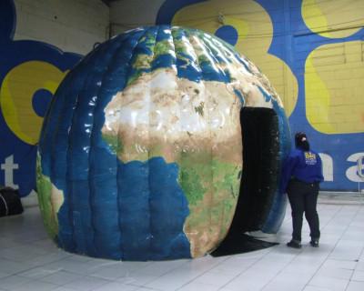 Domo Inflável Sintonia - Mapa Mundi