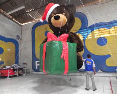 Urso 3D e Presente Inflável - R Alves