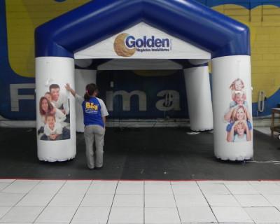 Tenda Inflável Golden Negócios