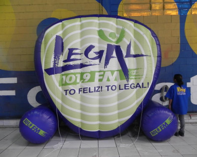 Logomarca Inflável Legal 101,9 FM
