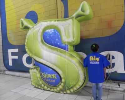 Logomarca Inflável Shrek