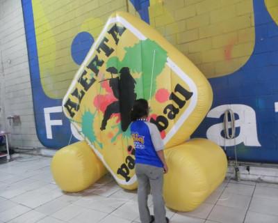 Logomarca Inflável Alerta Paintball