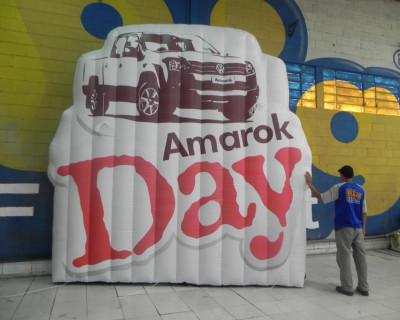 Logomarca Inflável Amarok Day