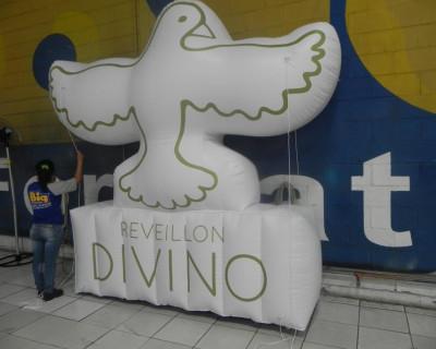 Logomarca Inflável Reveillon Divino