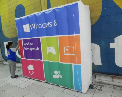 Logomarca Inflável Windows 8