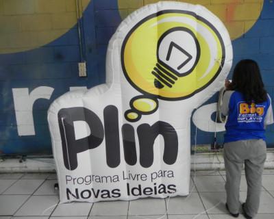 Logomarca Inflável Plin