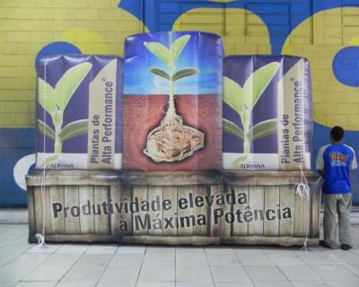 Logomarca Inflável Sementes Adriana