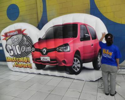 Logomarca Inflável Renault Clio  - Osasco e Jandira