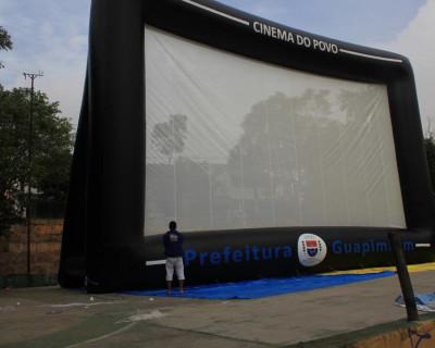 Tela de Projeção Inflável Cine Guapi