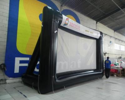 Tela de Projeção Inflável Centro Popular Áudio Visual