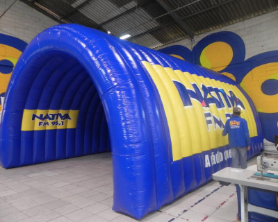 Túnel Inflável Nativa FM 95,1