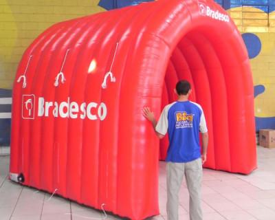 Túnel Inflável Bradesco