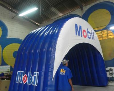 Túnel Inflável Mobil Azul