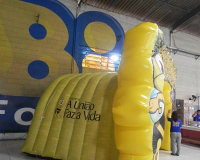 Túnel Inflável Programa a União Faz a Vida