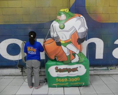 Mascote Inflável 2D Sampex