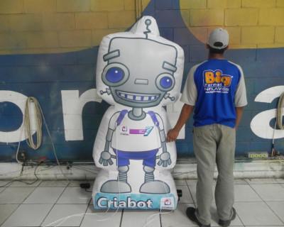 Mascote Inflável 2D Criativo