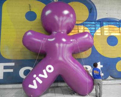 Mascote Inflável 2D Vivo