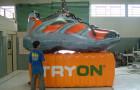 Mascote Inflável 3D Tênis Tryon Laranja - Foto 1
