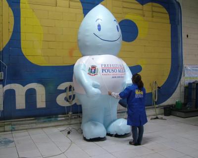 Mascote Inflável 3D Prefeitura de Pouso Alegre