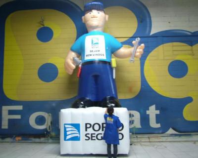 Mascote Inflável 3D Porto Seguro