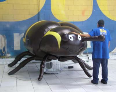 Mascote Inflável 3D Tamanduá de Soja