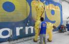 Mascote Inflável 3D Porto Seguro Girafa - Foto 1