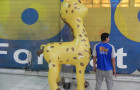 Mascote Inflável 3D Porto Seguro Girafa - Foto 2