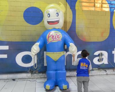 Mascote Inflável 3D Super Prix