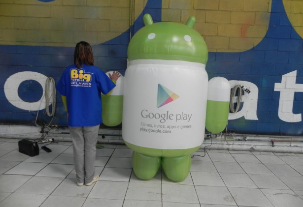Mascote Inflável 3D Android