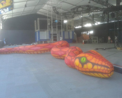 Inflável Promocional Serpente Original - Mascote 3D