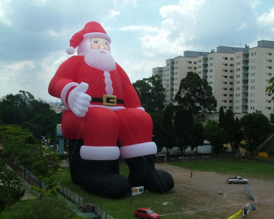 Papai Noel Inflável Sentado