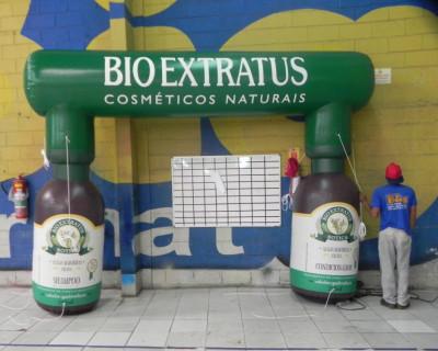 Inflável Promocional Bio Extratus - Tenda Personal e João Bobo