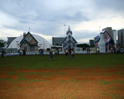 Inflável Promocional Vila Natalina