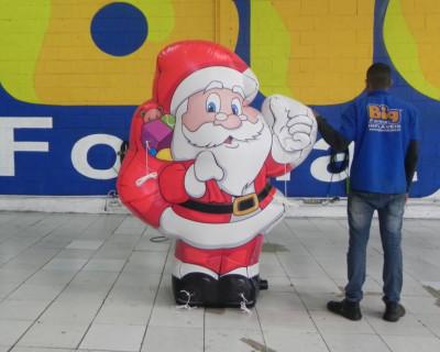 Novo Modelo! Papai Noel 2D Inflável