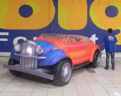 Calhambeque Fusca - Réplica Inflável de Carro 3D - 1,52x4,81x1,84m