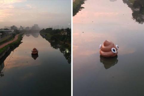 Por que São Paulo amanheceu com emoji inflável no Rio Pinheiros