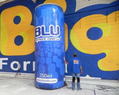 Lata Inflável - Blu Energy Drink