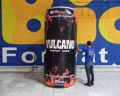 Lata Inflável - Vulcano Energy Drink