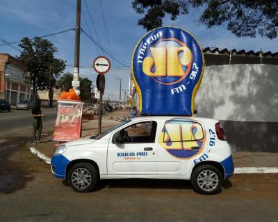 Logomarca e Portal Inflável Jovem Pan Itapeva