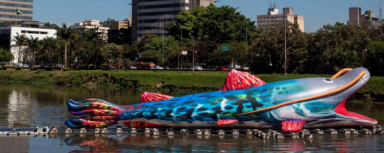 Peixe Gigante Inflável